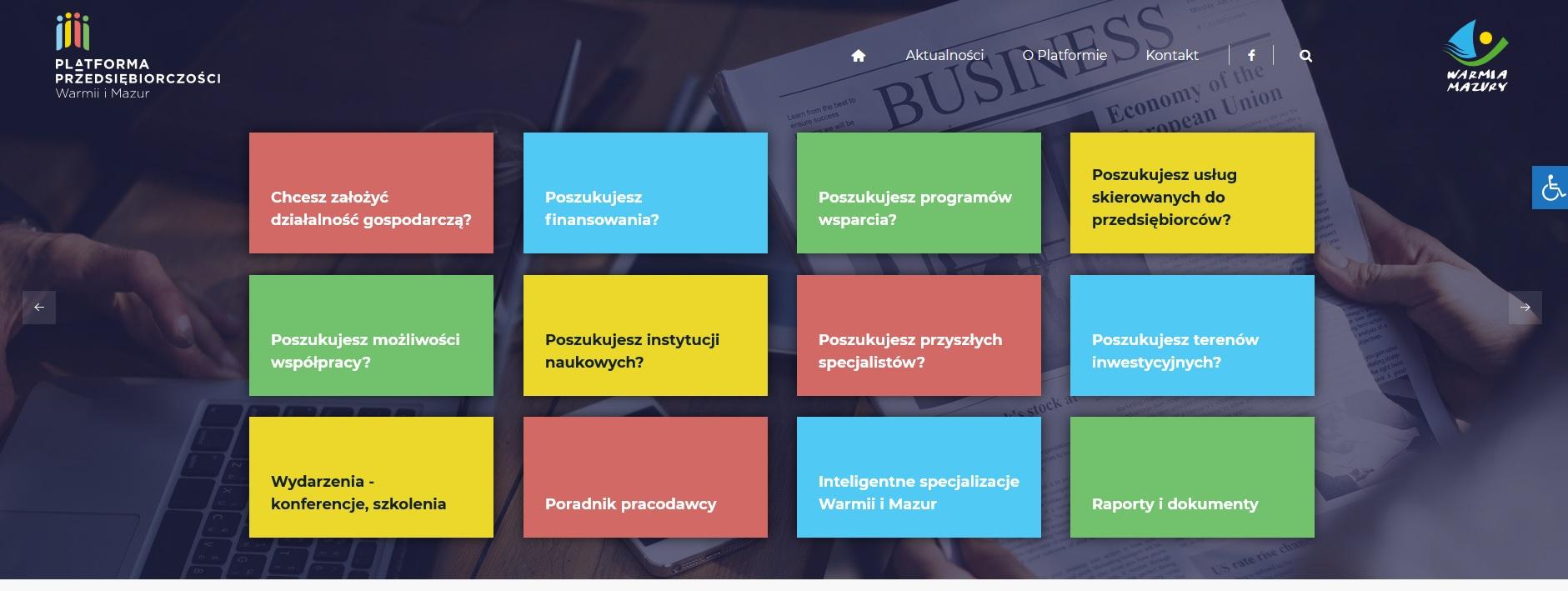 Ilustracja do informacji: Platforma Przedsiębiorczości Warmii i Mazur