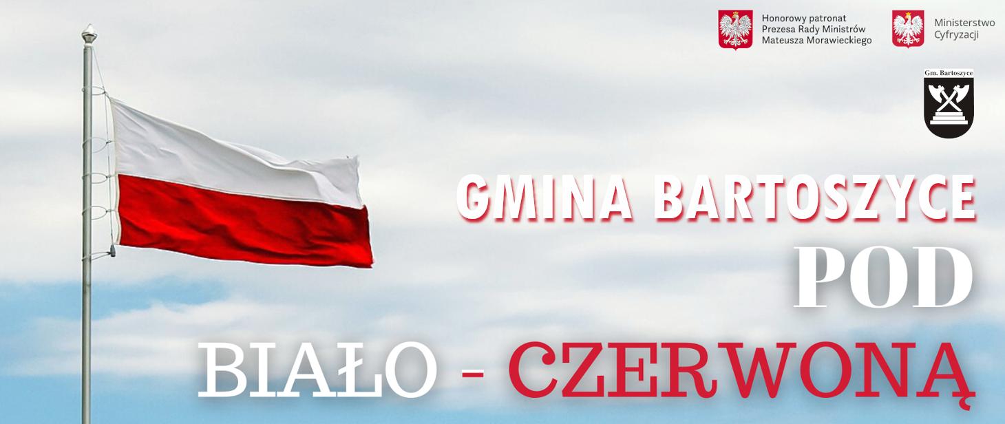 Ilustracja do informacji: Gmina Bartoszyce pod biało-czerwoną