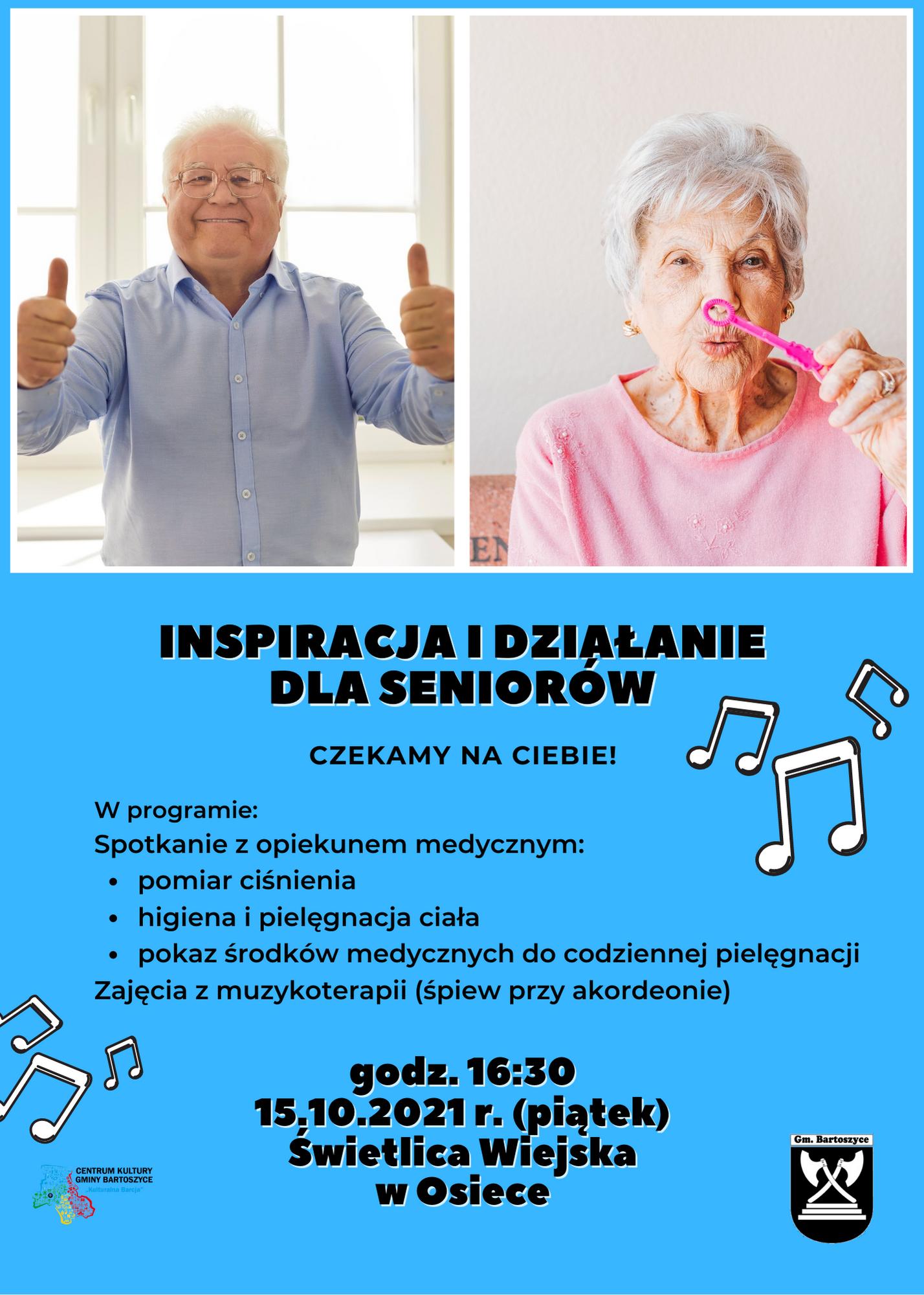 Ilustracja do informacji: Inspiracja i działanie dla seniorów w Osiece